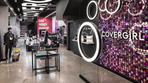 CoverGirl's store in New York's Times Square has augmented reality glam stations that allow shoppers to try on looks and share them digitally. Image credit: CoverGirl