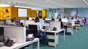 The Gucci call center in Florence, Italy. Image credit: Financial Times