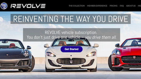 Consumers can subscribe to the Revolve service for $1,500 to $2,600 a month to drive car brands such as Jaguar, Porsche, Maserati, Lexus, BMW, Mercedes-Benz, Range Rover and Aston Martin. Image credit: Revolve