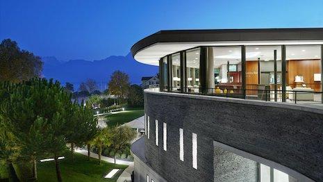 The spa building at Clinique La Prairie in Switzerland. Image credit: Clinique La Prairie
