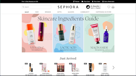 LVMH-owned retailer and cosmetics brand Sephora has created a loyalty program that has won plaudits for its effectiveness. Image credit: Sephora