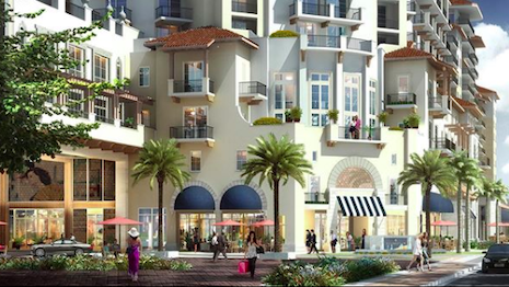 The Shoppes at Via Mizner, Boca Raton, FL: Boutiques offering designer couture, high-end jewelry, fine art and furnishings for homes. Image credit: Penn-Florida Companies